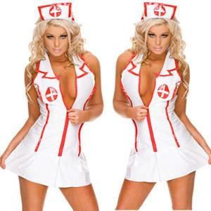 Cosplay lingerie sexy femmes hot nurse uniforme teddy lingerie érotique sexy maid costumes sexy porn babydoll lingerie livraison gratuite