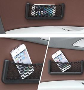 Car Net Sac voiture Organisateur Nets 20X8cm Automobile poches avec adhésif Visor voiture Syling sac de rangement pour les outils de téléphone mobile