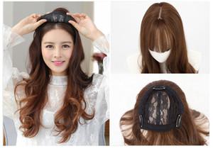 Silk Basis Frauen Weibliche Haarteile Neue Premium Haar Ersatz Toupet Spitze Frontal Schließung mit bündel Synthetische Zubehör