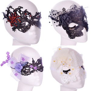 Halloween Sexy Flowers Lace Party Máscaras Niñas Mujeres Máscara de disfraces Venetian Half Face Mask Navidad Cosplay Party Eye Máscaras WX-M10
