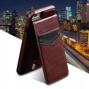 S6 Case verticale Retour Flip Cover en cuir Housse pour Samsung S6 S7 Phone Case Open Up and Down