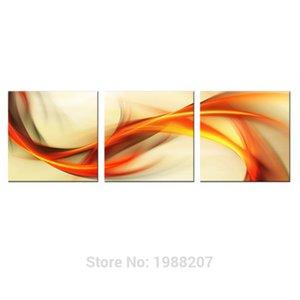 3 Panneaux toile abstraite peinture ruban imprimé coloré Image sur toile Wall Art Pour Décoration Avec Etendu et encadrée