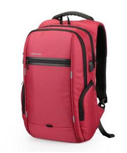 Vente en gros- Kingsons Marque externe USB Charge Nylon Bag Anti-Theft Notebook Backpack inch Sac à dos étanche pour ordinateur portable pour hommes