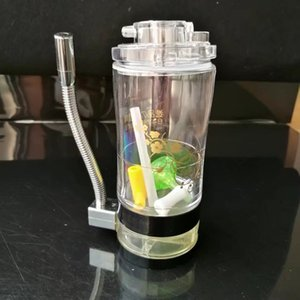 Alkol lamba ile yüksek kaliteli akrilik, Yeni Benzersiz Cam Bongs Cam Borular Su Boruları Nargile Petrol Kuleleri Droppe ile Sigara