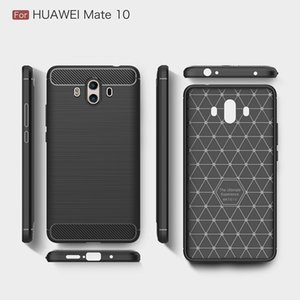10PCS Cellphone Cases For Huawei Mate10 Carbon Fiber heavy duty shockproof armor case for huawei Mate10 2017 hot sale Free shipping