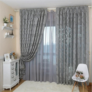 1pcs 100x 270cm Leaf Style Design Jacquard Blackout Curtain Blind for Window Living Room Home Decoration