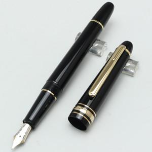 Classique prata / ouro cilp metal e resina caneta-tinteiro 145, luxo MB estacionário suprimentos caneta branco estrela inlay número de série