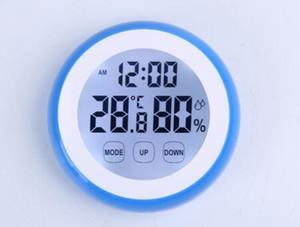 Écran tactile Température intérieure numérique Hygromètre Station météo Horloge Thermomètre Fahrenheit / Celsius avec Rétro-éclairage 40%
