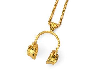 Hiphop Мода Элегантные наушники Подвеска для женщин Мужчины Наушники гарнитуры Подвески Колье Колье Punk Rock Colar ювелирные изделия