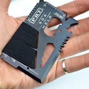 All'ingrosso-14 in 1 EDC Outdoor Sports Survival Knife Multi-funzione Sos Card Tool Corda di campeggio Caccia strumento Gadget esterni