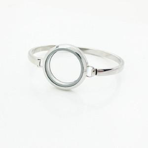 Горячий продавать 7Inch 8Inch серебро из нержавеющей стали 316L Плавающие Locket браслеты Браслеты 30мм Locket браслет