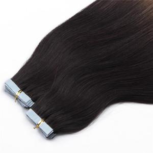 En gros 20''100% Cheveux Humains PU EMY Bande Extensions De Cheveux De La Peau 2.5g / pièce, couleur 33 # 40pcs 100Gr cheveux raides