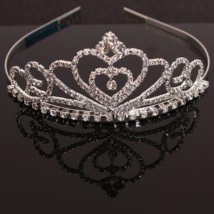 Il pettine dei capelli della corona del diamante di cristallo degli ornamenti dei capelli del copricapo dei capelli della principessa dei bambini della principessa ornamenti dei capelli della sposa si dirige all'ingrosso trasporto libero
