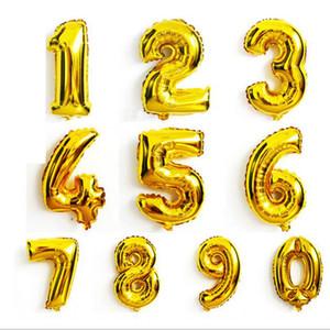 0-9 عدد البالونات لعب لحفل زفاف عيد الميلاد حزب الديكور 40 بوصة أزياء الساخنة احباط بالون 50pcs = 1 number = 1bag