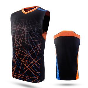 Новая одежда для бадминтона, одежда без рукавов, мужская спортивная одежда без рукавов, теннисные / волейбольные платья, дышащая летняя одежда для пота