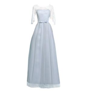Novas mulheres da moda Vestidos de Noite Sempre Bonita Sereia Vestido de festa à noite plus size 4 clour cinza rosa Champagne A-line hzl0701