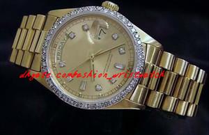 Top-Qualität Luxus Uhren Armbanduhr 18 Karat Gelbgold Diamant Zifferblatt Lünette 18038 Uhr Automatische Mens Herrenuhr Uhren