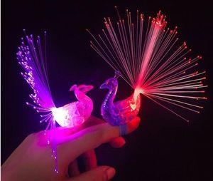 공작 손가락 야간 조명 컬러 Led 램프 어린이 광섬유 손가락 빛 교육 플라스틱 손가락 장난감
