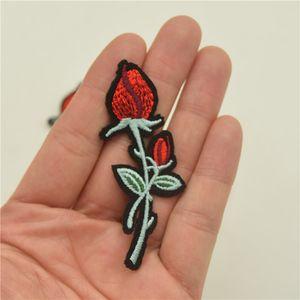 32 작은 빨간 장미 꽃 레이디 DIY Embroided IRON on Patch DIY 공예 봉합 들어