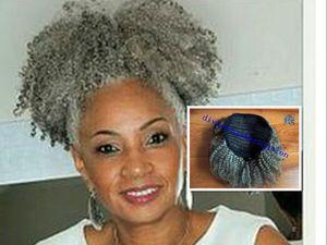 Afro Kinky 컬리 위브 포니 테일 헤어 스타일 Clip in grey hair 포니 테일 Extension drawstring 포니 테일 short high pony hair 120g 100g 80g