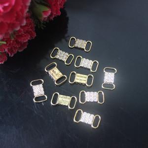 50 adet Metal Kristal Rhinestone Bikini Konnektörler Yüzme Giyim Bikini Dekorasyon Gümüş / Altın Için Toka