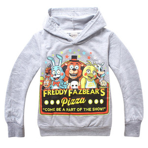 Nuevas cinco noches en Freddy Freddys otoño negro sudadera niños ropa niños sudaderas niños de dibujos animados ropa 6-14T