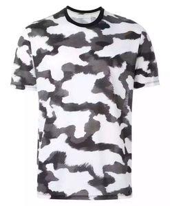 Camuflagem dos homens T-Shirt Camo Masculino Militar Do Exército T Camisa Casual Top T-shirt Dos Homens Camisetas Masculinas Legal
