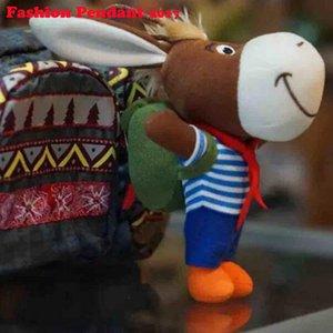 Çanta ile 13 cm Orijinal süper sevimli eşek peluş kolye hayvan peluş oyuncaklar Anahtarlıklar oyuncaklar bırak ücretsiz kargo