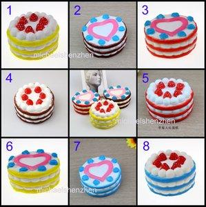 8 Styles zappeln Erdbeer-Kuchen PU Spielzeug Slow Rebound-Simulation Kuchen Lustige Gadget Vent Decompression Spielzeug B001 matschig