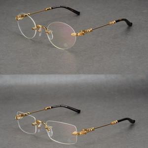 New crow heart montature per occhiali senza montatura montature per uomo quadrate marea tonda montature per occhiali maschili miopia montature per occhiali da vista