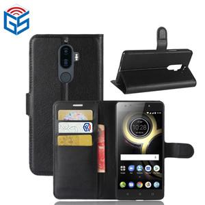 2017 acessórios para smartphones premium pu leather flip carteira case para lenovo k8 note com cartão de bolso