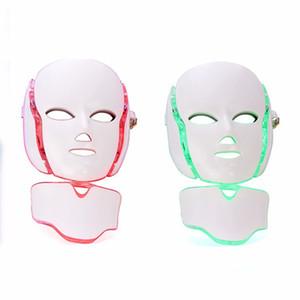스킨 레 쥬 베 네이션 라이트 테라피는 주름을 7 색으로 줄여줍니다 LED 광자 얼굴 목 EMS 마이크로 일렉트로닉스