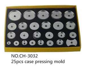 Atacado- Novo 25pcs Assista Case Voltar Alumínio Metal Closer Press Morre Assista Repair Tool