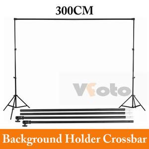 Venta al por mayor Photo Studio Background Backdrop Support Cross Bar 3m barra transversal envío gratis