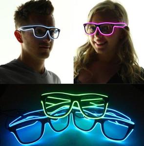 LED Partido Óculos Moda El Fio óculos de Festa de Aniversário de Halloween Bar Decorativo fornecedor Óculos Luminosos Eyewear KKA2002
