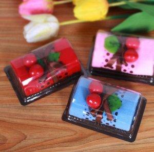 10 개 혼합 색상 스위스 롤 케이크 스타일의 수건 섬유 창조적 수건 웨딩 파티 생일 호의 선물 기념품 기념품