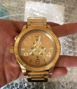 Frete grátis por atacado novo CHRONO NIXO 51-30 Chrono todo o ouro cronógrafo Mens Watch A083 502 caixa de relógio original melhor qualidade