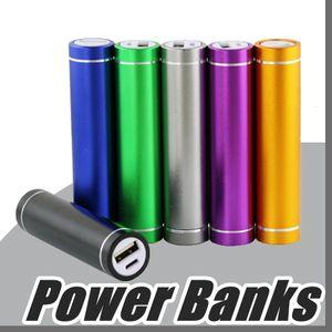 Batterie de secours pas cher Portable 2600mAh Cylindre PowerBank Chargeur de batterie de secours externe Chargeurs d'alimentation de secours pour tous les téléphones mobiles A-YD