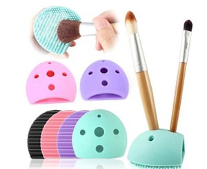 1 Stücke Ei Silikon Reinigungshandschuh Wäscher Cosmetic Foundation Powder Clean Tools Pinsel Ei Make-Up Waschbürste Bord Pinsel