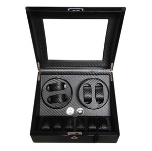 Global Fit Luxury for Swiss Brand Watch Storage&Display Watch Winder Box Black Glossy Wooden Case Rotator 4+6 Mechanical Watches Movement