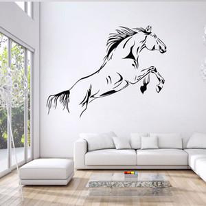 Cartoon Running Horse Pegatinas de Pared Extraíble Vinilo Habitación Decal Art Mural Home Decor Wallpaper envío gratis