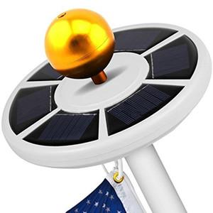 Высокий яркий 26 светодиодов солнечной энергии флагшток свет 3w солнечный открытый сад зонтик пейзаж привело пятно света