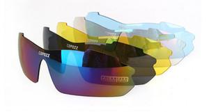 Marca de ciclismo eyewear 5 LENTE Ciclismo óculos 2017 óculos de sol de ciclismo homens polarizados óculos de sol lentes de resina mulheres homens óculos de sol saco de vidro