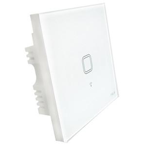 Brand new toque reino unido plugue de parede wi-fi interruptor de luz do painel de vidro toque luzes led interruptor para casa inteligente interruptor de controle remoto sem fio