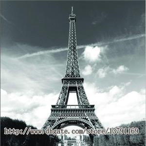 """Ünlü Şehir Landmark Desen Yumuşak Kumaş Banyo Su Geçirmez Duş Perdesi 72 """"Tarafından 72"""" Eyfel Kulesi Paris"""