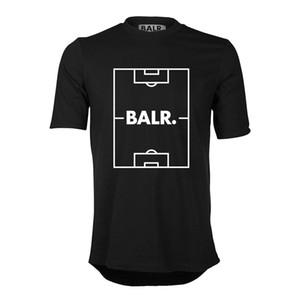 Высокое качество мода евро размер футбольное поле печати BALRED футболка мужчины balr футболка одежда круглая нижняя длинная задняя футболка