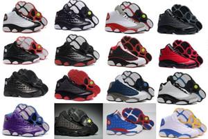 Commercio all'ingrosso nuovo a buon mercato 13 XIII uomini scarpe da basket donne allevati gioco blu casa grigio punta flint grigio scarpe da ginnastica stivali taglia 36-47
