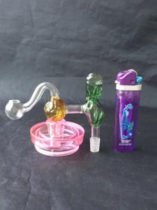 Роза футбол плита стекло бонги аксессуары, стекло курительные трубки красочные мини многоцветные ручные трубы лучший ложка глас