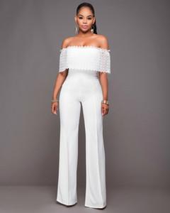 2021 Hot Off Rompers Lace Outfits For Black White Womens Jumpsuit Elegant Shouder Bodysuit Sexy Women Sale Long Pants Gnhrq