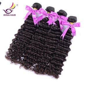 2017 New Arrival Não Transformados Brasileiro Virgem Peruano Profunda Curly Hair 4 Bundle Bundle Cabelo Brasileiro Bundle Big Promotion